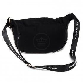 Сумка женская текстиль DJ-5962-1-BLACK, поясная 1отд,  2внут+1внеш/карм,  черный 218572
