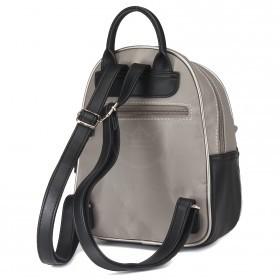 Сумка женская текстиль+иск/кожа DJ-5962-5-GREY    (рюкзак) ,    1отд,    2внеш+2внут/карм,    серый