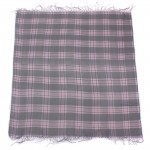 Платок головной 100*100см хлопок 50%,    бамбук 50% плетение хлопок,    серый    (клетка)