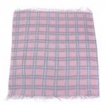 Платок головной 100*100см хлопок 50%,    бамбук 50% плетение хлопок,    розовый    (клетка)