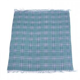 Платок головной 100*100см хлопок 50%,    бамбук 50% плетение хлопок,    зеленый    (клетка)