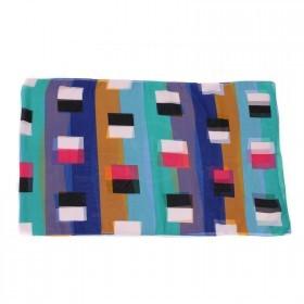 Шарф 50*160см шифон 100%,    плетение шифон,       (геометрия)    радуга