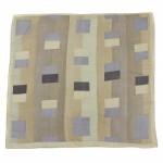 Платок шейный 70*70см шифон 100%,    плетение  шифон,      (геометрия)    зеленый/серый