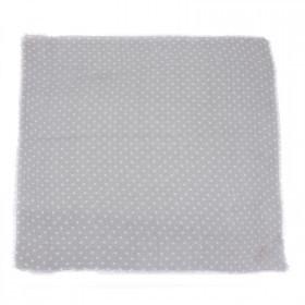 Платок головной 90*90см,    хлопок 100% плетение хлопок,       (горох)    серый