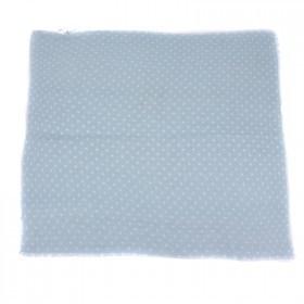 Платок головной 90*90см,    хлопок 100% плетение хлопок,       (горох)    голубой