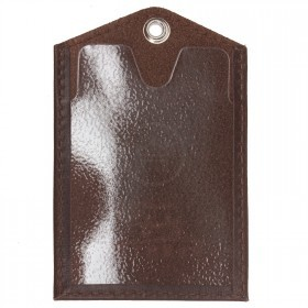 Обложка пропуск/карточка/проездной Premier-V-42 натуральная кожа коричневый друид   (8)