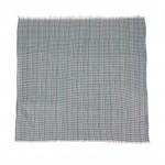 Платок головной 95*95см,    хлопок 20%,    бамбук 80% плетение хлопок,       (клетка мелкая)    зеленый