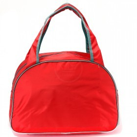Сумка дорожная SilverTop-4195 Транзит,    б/подклада,    жесткое дно,    ножки,       (буквы)    красный/серый