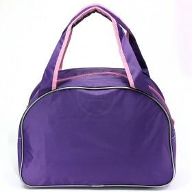 Сумка дорожная SilverTop-4195 Транзит,    б/подклада,    жесткое дно,    ножки,       (попугай)    фиолетовый/роз
