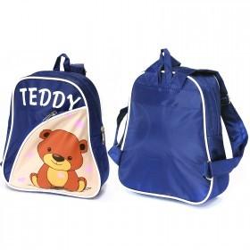 Рюкзак детский Silver Top-1040 Кроха прост спинка/Teddy,    синий/бежевый,    медведь