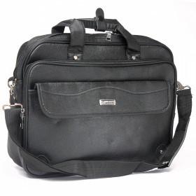 Сумка мужская искусственная кожа Cantlor-1107, для ноутбука 1отд,  4карм,  ручка/петля,  плечевой ремень,  черный 219409