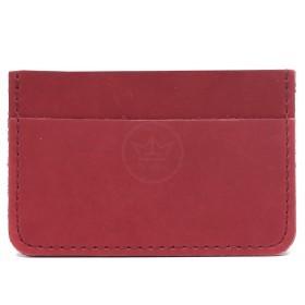 Обложка пропуск/карточка/проездной Croco-фк-1001 натуральная кожа бордовый шора (1005)  219496