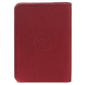 Обложка пропуск/карточка/проездной Croco-фк-1002 натуральная кожа бордовый шора (1005)  219497