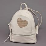Сумка женская искусственная кожа GR-1610    (рюкзак) ,    2отд,    3внут+1внеш карм,    св бежевый