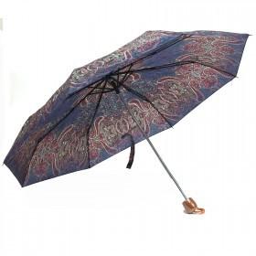 Зонт женский PS-6816-03,    R=53см,    механика;    8спиц-сталь;    3слож;    полиэстер,    фиолетовый