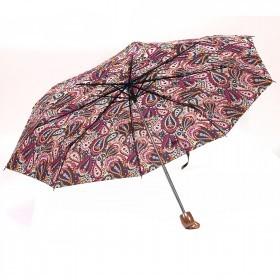 Зонт женский PS-6816-03,    R=53см,    механика;    8спиц-сталь;    3слож;    полиэстер,    мультиколор