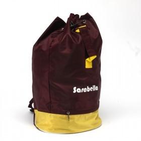 Рюкзак Sarabella-Т-02,    прост спинка,    1отд,    1внеш карм,    полиэст,    бордо/желтый