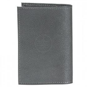Обложка для паспорта Croco-П-400 натуральная кожа серый металлик   (230)