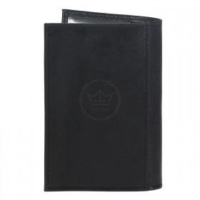Обложка для паспорта Croco-П-406 натуральная кожа черный крек   (210)