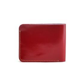 Портмоне женское Premier-М-58 натуральная кожа 1 отд,    2 карм,    красный гладкий   (135)