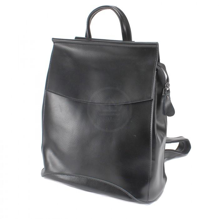Сумка женская натуральная кожа RM-1608-220 (рюкзак) 1внеш, 4внут/карм, черный 222390
