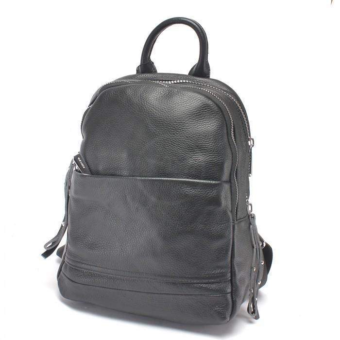 Сумка женская натуральная кожа AUR-6610, (рюкзак) 2отд, черный 222977