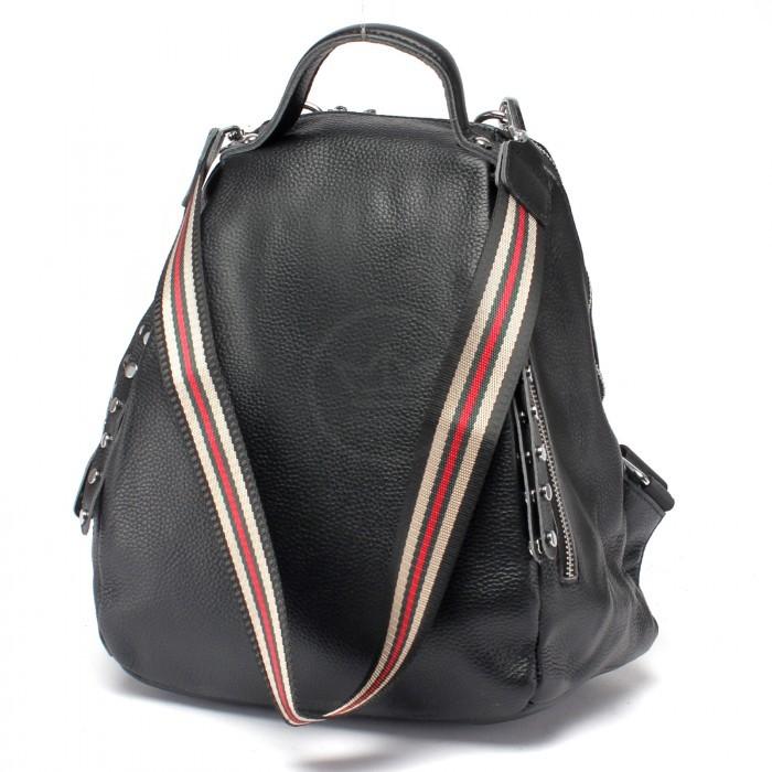 Сумка женская натуральная кожа AUR-77243, (рюкзак) 1отд+плеч/ремень, черный 222978