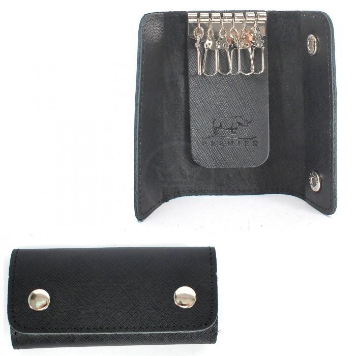Футляр для ключей Premier-К-102 (на 6 ключей) натуральная кожа черный сафьян (589) 226682