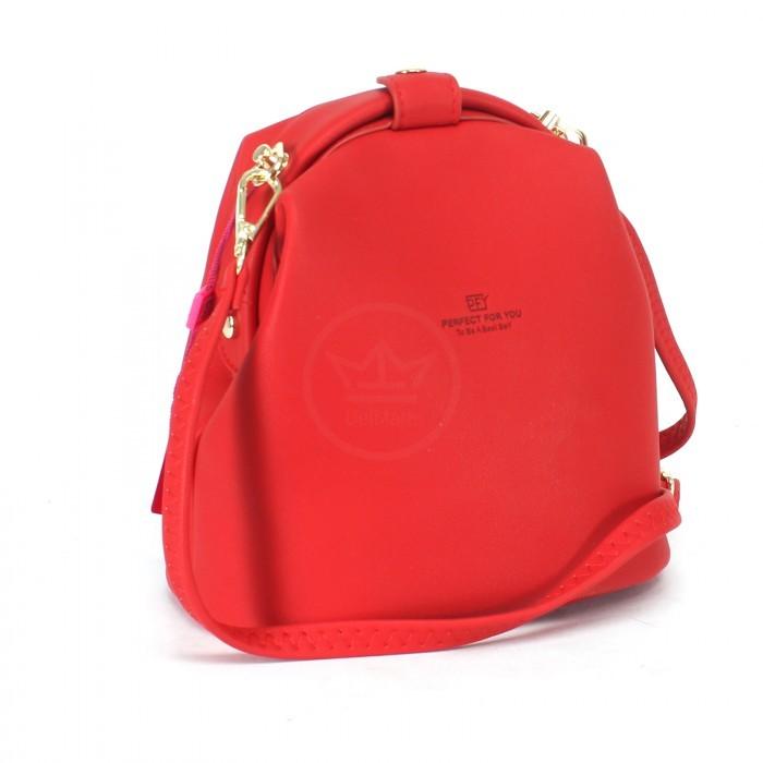 Сумка женская искусственная кожа ForeverYoung-DL 6983-001, 1отд, плеч/ремень, красный 230168