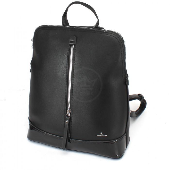 Сумка женская искусственная кожа Kenguluna-89808 (рюкзак), 1отд+еврокарман, черный 230366