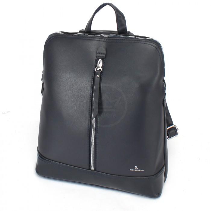 Сумка женская искусственная кожа Kenguluna-89808 (рюкзак), 1отд+еврокарман, темно-синий 230381
