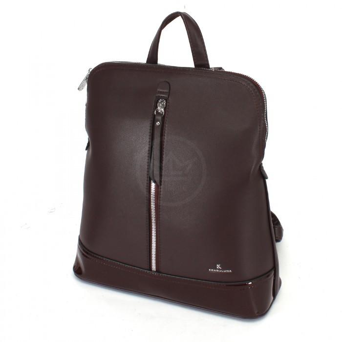 Сумка женская искусственная кожа Kenguluna-89808 (рюкзак), 1отд+еврокарман, бордовый 230382