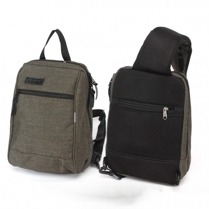 Рюкзак (сумка) муж Rise-394 (однолямочный), 1отд, плечевой ремень, 2внеш карм, зеленый 230448