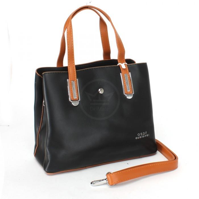 Сумка женская искусственная кожа XHD-9126-black. 3отд, плеч/ремень, черный SALE 232518